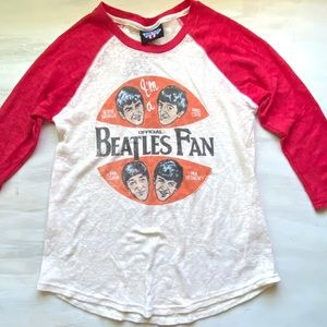 Junk Food The Beatles Baseball Tee